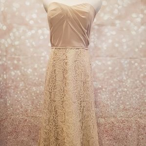 NWT Dessy Studio Collection Strapless Lace Gown